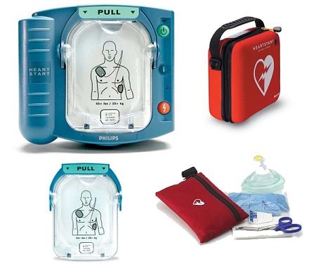 Philips HeartStart Onsite AED (HS1) Package c/w 2) Battery